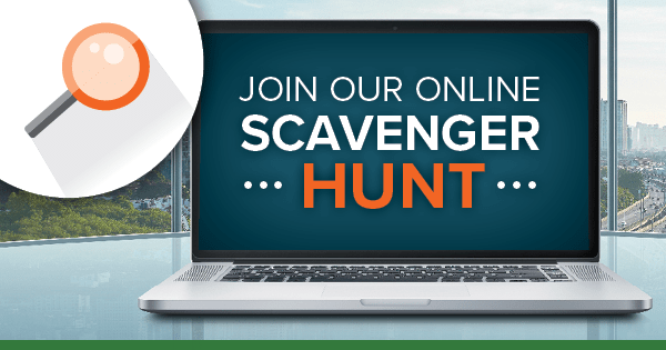 Join our Scavenger Hunt graphic