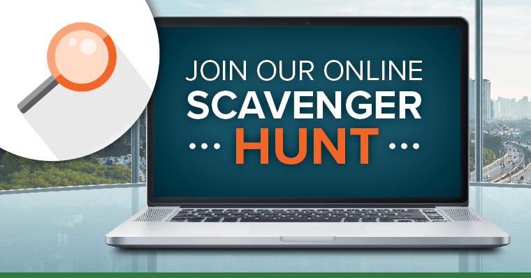 Enter our scavenger hunt contest